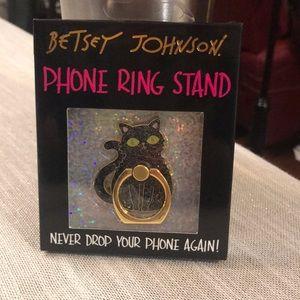 Betsey Johnson Black Cat Phone Ring Stand